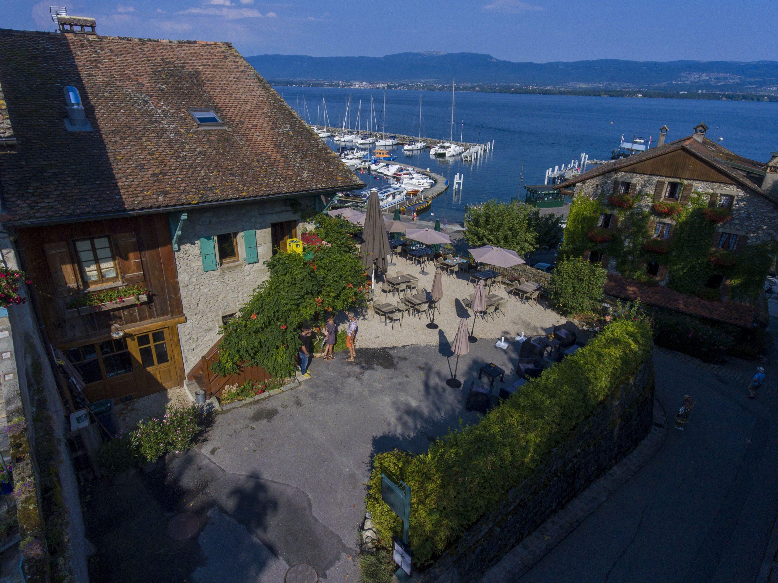 Restaurant Yvoire vue sur le lac