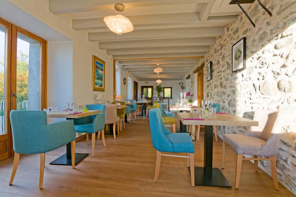 Salle du repas restaurant à Yvoire Le Passe Franc