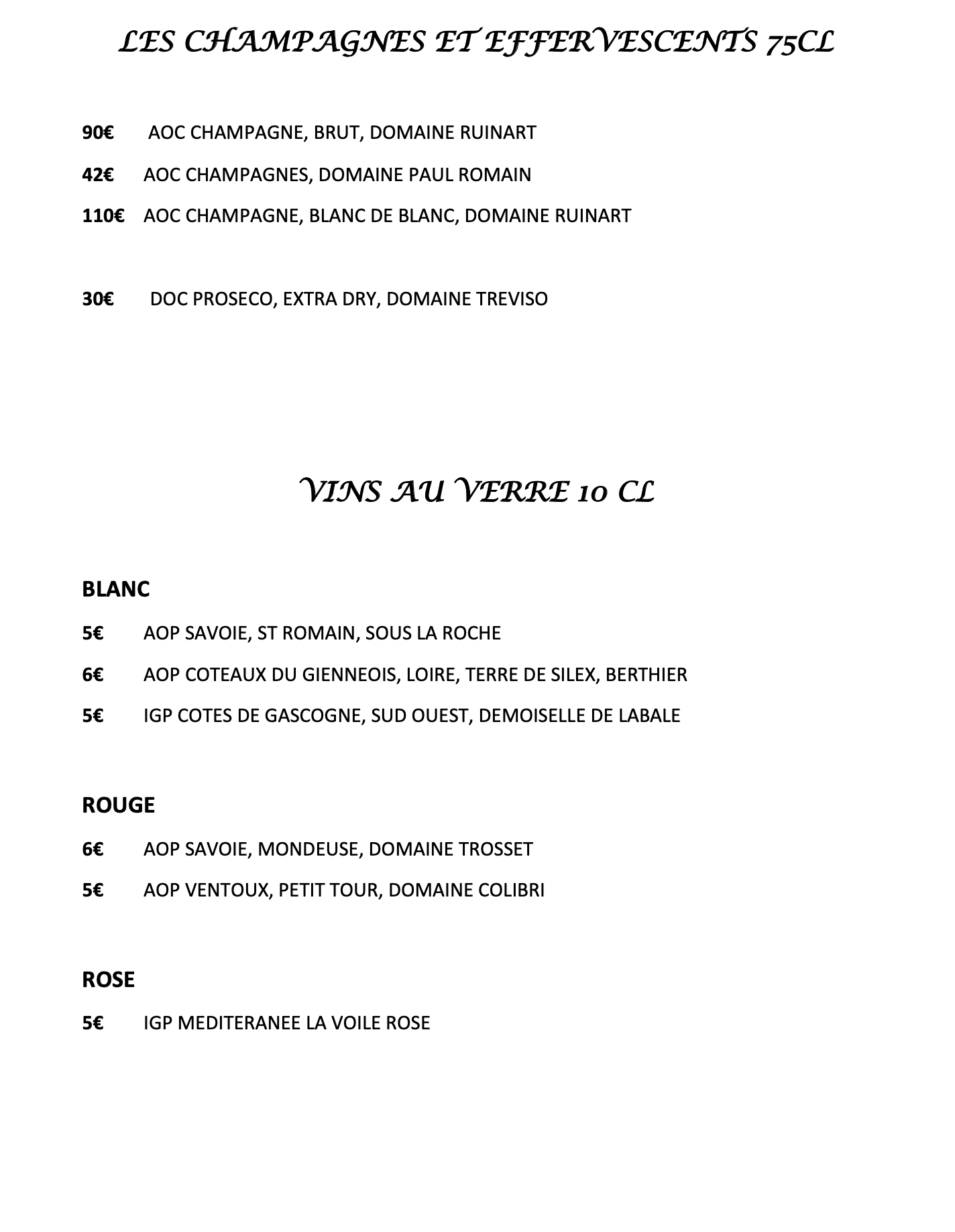 Cartes des vins - 2:6